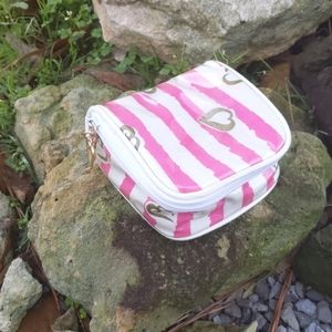 Victoria's Secret Signature Pink/White Striped Bag